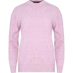 Jasnofioletowy Sweter Shortage. Niebieskie swetry klasyczne damskie marki ARTENGO, z elastanu, ze stójką. Za 49,99 zł.