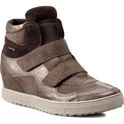 Sneakersy GEOX - D Amaranth H. B D52S9B 022AL C1B9H  Dove Grey/Lead. Brązowe botki damskie skórzane Geox, na koturnie. W wyprzedaży za 269,00 zł.