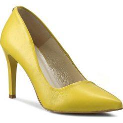 Szpilki: Szpilki R.POLAŃSKI – 0760/A Żółty Lico