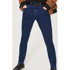 Rurki męskie: Klasyczne jeansy slim fit - Niebieski