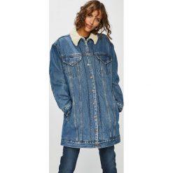 Levi's - Kurtka jeansowa. Brązowe bomberki damskie Levi's®, s, z bawełny. Za 499,90 zł.
