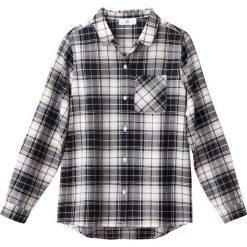 Koszula w kratę, 10-16 lat. Szare bluzki dziewczęce z długim rękawem La Redoute Collections, z wiskozy, z klasycznym kołnierzykiem. Za 70,52 zł.