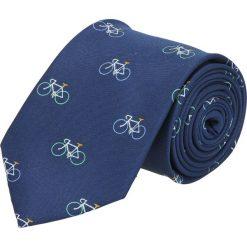 Krawaty męskie: krawat platinum granatowy classic 256
