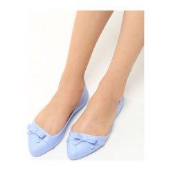Niebieskie Balerinki Filament. Niebieskie baleriny damskie Born2be, z gumy, na obcasie. Za 39,99 zł.
