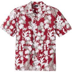Koszule męskie na spinki: Koszula z krótkim rękawem w hawajski deseń, Regular Fit bonprix czerwony z nadrukiem