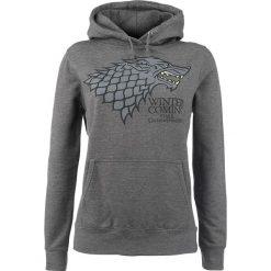 Gra o Tron House Stark - Winter Is Coming Bluza z kapturem damska odcienie szarego. Szare bluzy rozpinane damskie Gra o Tron, na zimę, m, z nadrukiem, z kapturem. Za 144,90 zł.