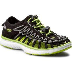 Sandały KEEN - Uneek 02 1015481 Black/Macaw. Czarne sandały chłopięce Keen, z materiału. W wyprzedaży za 199,00 zł.