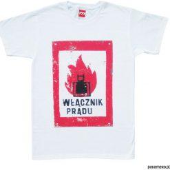 Koszulka WŁĄCZNIK PRĄDU tshirt. Czarne t-shirty męskie marki Pakamera, m, z kapturem. Za 77,00 zł.