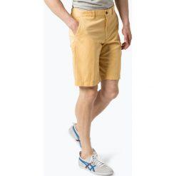 Bermudy męskie: BRAX - Spodenki męskie – Bozen, żółty