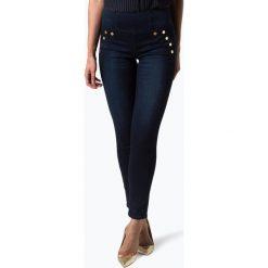 Guess Jeans - Jeansy damskie, niebieski. Niebieskie spodnie z wysokim stanem Guess Jeans, z aplikacjami, z jeansu. Za 399,95 zł.