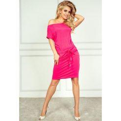 Cher Sukienka sportowa - NEON Różowa. Różowe sukienki mini marki numoco, l, z długim rękawem, oversize. Za 109,00 zł.