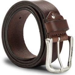 Pasek Męski WRANGLER - Easy Belt W0B35U185 100 Brown. Brązowe paski męskie Wrangler, w paski, ze skóry. W wyprzedaży za 159,00 zł.