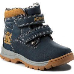 Buty zimowe chłopięce: Trapery ACTION BOY – CP07-17011-02 Granatowy