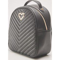 Pikowany plecak z ozdobnym detalem - Czarny. Czarne plecaki damskie House. Za 89,99 zł.