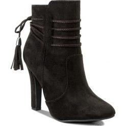 Botki JENNY FAIRY - LS4288-01 Czarny. Czarne buty zimowe damskie Jenny Fairy, z materiału, na obcasie. W wyprzedaży za 83,99 zł.