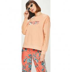 Pepe Jeans - Bluza. Różowe bluzy z nadrukiem damskie Pepe Jeans, l, z bawełny. Za 319,90 zł.