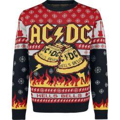 AC/DC Holiday Sweater 2018 Sweter z dzianiny wielokolorowy. Czarne swetry klasyczne męskie AC/DC, s, z napisami, z dzianiny, z dekoltem na plecach. Za 244,90 zł.