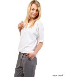 T-shirt bawełniany z kieszenią ZEN LOOK biały. Czarne t-shirty damskie marki KIPSTA, m, z elastanu, z długim rękawem, na fitness i siłownię. Za 110,00 zł.
