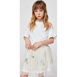 Mango Kids - Top dziecięcy Rosal 110-164 cm. Różowe bluzki dziewczęce marki Mayoral, z bawełny, z okrągłym kołnierzem. W wyprzedaży za 19,90 zł.