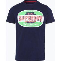 Superdry - T-shirt męski, niebieski. Niebieskie t-shirty męskie z nadrukiem Superdry, m, z bawełny. Za 159,95 zł.