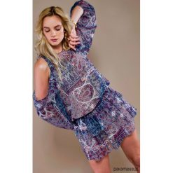 Sukienka Kaya. Szare sukienki balowe Pakamera, mini, z odkrytymi ramionami. Za 225,00 zł.