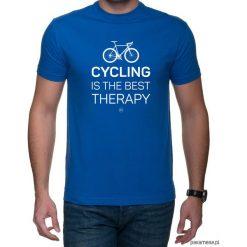 Koszulka T-SHIRT Cyclist Therapy. Czarne t-shirty męskie z nadrukiem marki Pakamera, m, z kapturem. Za 75,00 zł.