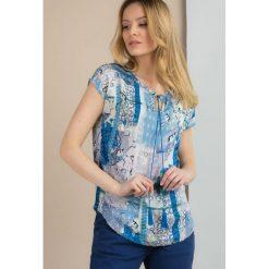 Bluzki damskie: Wzorzysta bluzka na lato