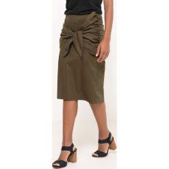 Spódniczki: Spódnica ołówkowa z wiązaniem