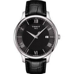 PROMOCJA ZEGAREK TISSOT T - CLASSIC T063.610.16.058.00. Czarne zegarki męskie TISSOT, ze stali. W wyprzedaży za 1012,00 zł.
