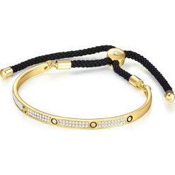 Bransoletki damskie: Bransoletka w kolorze czarno-złotym z elementem ozdobnym