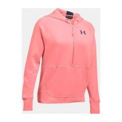 Bluzy sportowe damskie: Under Armour Bluza damska Favorite Fleece 1/2 Zip koralowa r. S (1298416-980)