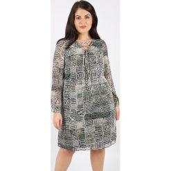 Długie sukienki: Sukienka rozkloszowana, półdługa, z nadrukiem