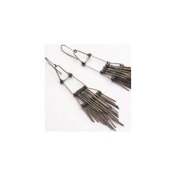 Kolczyki damskie: Długie srebrne kolczyki ze stali szlachetnej Etnika