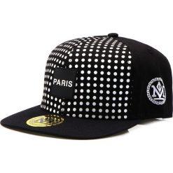 Czapka męska snapback czarna (hx0177). Czarne czapki z daszkiem męskie Dstreet, z aplikacjami, eleganckie. Za 69,99 zł.