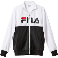 Bluza ze stójką. Szare bluzy męskie rozpinane marki Fila, m, z długim rękawem, długie. Za 288,08 zł.