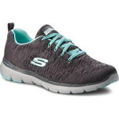 Buty SKECHERS - Flex Appeal 3.0 13062/CCLB Charcoal/Light Blue. Szare buty do fitnessu damskie Skechers, z materiału. W wyprzedaży za 219,00 zł.