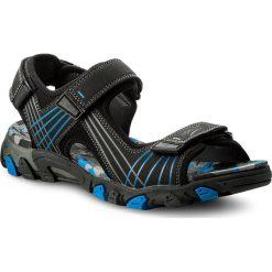 Sandały męskie skórzane: Sandały SUPERFIT – 2-00100-02 D Schwarz Kombi