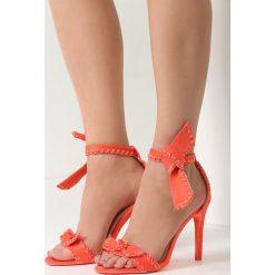 Koralowe Sandały Serendipity. Pomarańczowe sandały damskie vices, na wysokim obcasie. Za 79,99 zł.