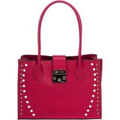Torebki klasyczne damskie: Skórzana torebka w kolorze fuksji – (S)31 x (W)42 x (G)13 cm