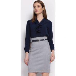 Granatowa Koszula Recently. Szare koszule damskie Born2be, l, z tkaniny, eleganckie, z długim rękawem. Za 59,99 zł.
