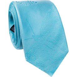Jedwabny krawat KWNR000252. Niebieskie krawaty męskie Giacomo Conti, z jedwabiu, eleganckie. Za 129,00 zł.