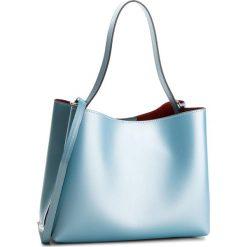 Torebka CREOLE - K10523 Błękitny L970. Niebieskie torebki klasyczne damskie Creole, ze skóry, duże. W wyprzedaży za 209,00 zł.