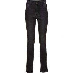 Dżinsy SKINNY z wysoką talią, z cekinami bonprix szary denim. Niebieskie jeansy damskie marki House, z jeansu. Za 79,99 zł.