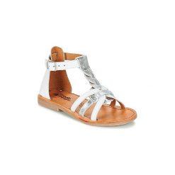 Sandały Dziecko  Citrouille et Compagnie  GITANOLO. Białe sandały dziewczęce Citrouille et Compagnie. Za 189,00 zł.