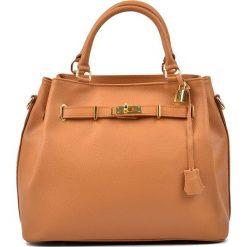 Torebki klasyczne damskie: Skórzana torebka w kolorze brązowym – 38 x 30 x 20 cm