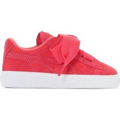 Tenisówki Inf S Heart Valentine. Czerwone buty sportowe chłopięce Puma, z materiału, na sznurówki. Za 306,56 zł.