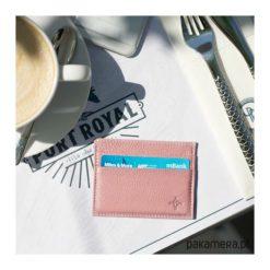 Skórzany portfel na karty kredytowe. Czerwone portfele damskie Pakamera, z materiału. Za 150,00 zł.