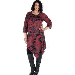 Odzież damska: Koszulka w kolorze czerwono-czarnym