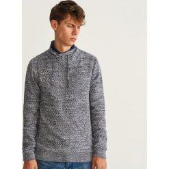 Sweter z kołnierzem - Granatowy. Niebieskie swetry klasyczne męskie marki Cropp, l. Za 139,99 zł.