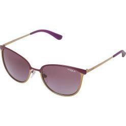 VOGUE Eyewear Okulary przeciwsłoneczne matte violet/brushed goldcoloured. Szare okulary przeciwsłoneczne damskie aviatory VOGUE Eyewear. Za 409,00 zł.
